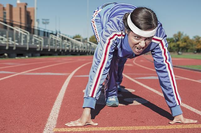běžkyně na startu
