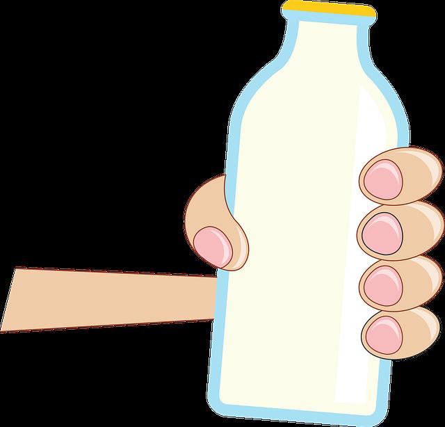 láhev mléka