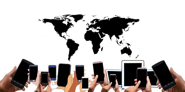 mobilní telefony po celém světě