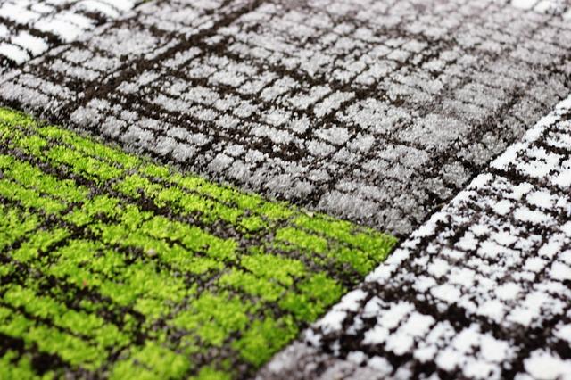 Zelenobíločerný koberec