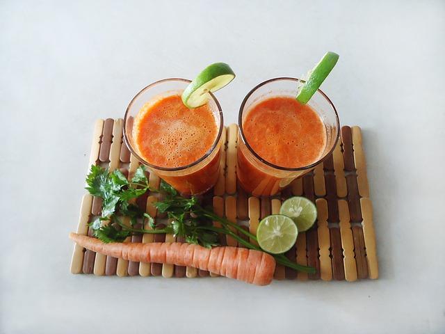 mrkvový koktejl
