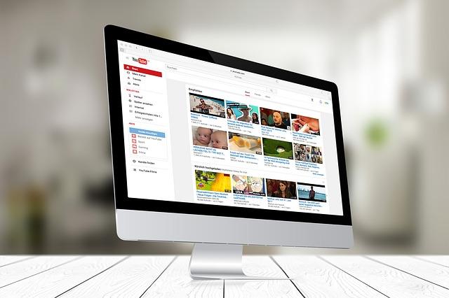 obrazovka youtube