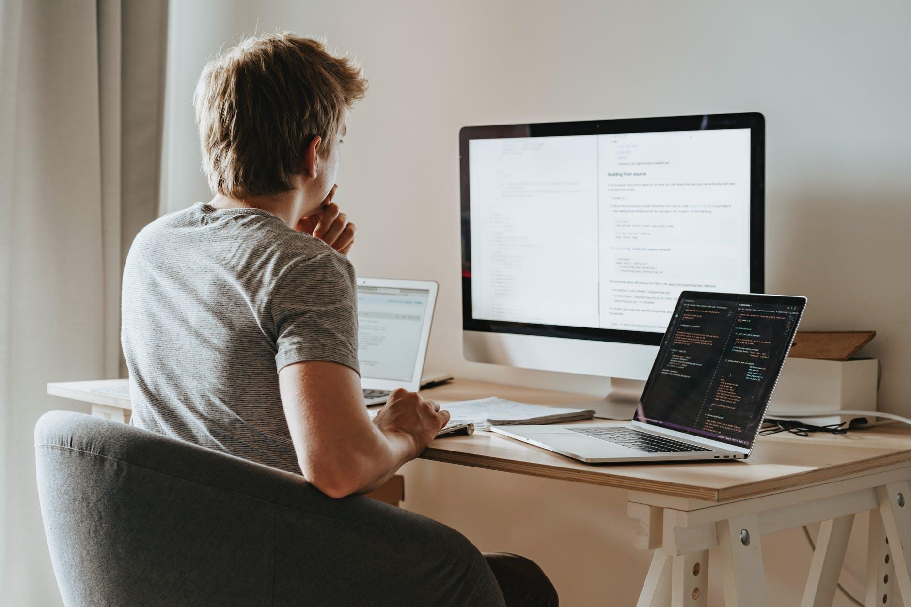 počítač, notebook, práca